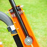 Anti-vibration height-adjustable handle bars
